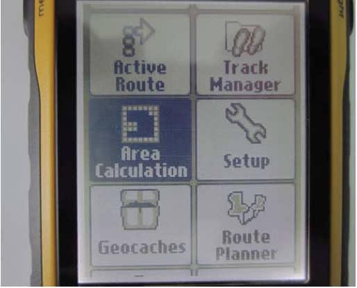 Màn-hình-đo-diện-tích-Máy-định-vị-GPS-Garmin-Etrex-30