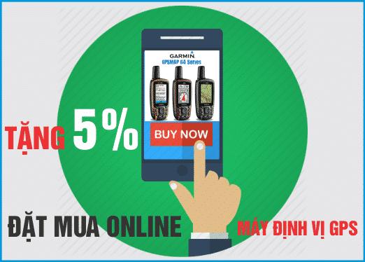 Tặng 5% giá trị đơn hàng khi đặt mua Online máy định vị GPS