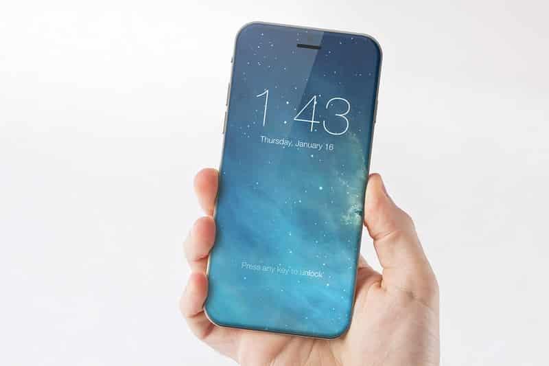 Ngắm điện thoại iPhone 7 chạy iOS 10 với màn hình tràn ra cạnh bên