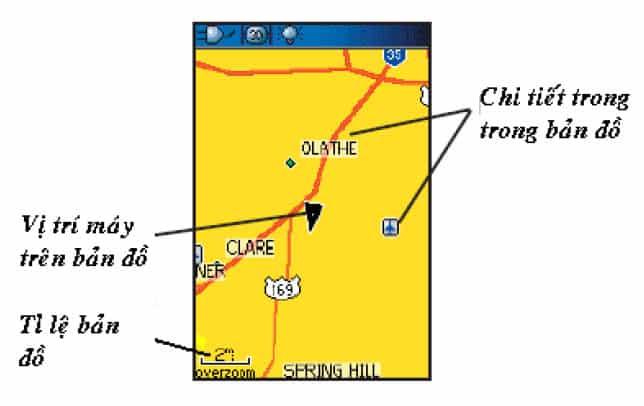 Bản đồ số trên máy định vị GPS