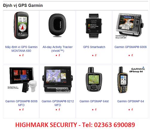 12 máy định vị GPS hãng Garmin thông dụng thường dùng
